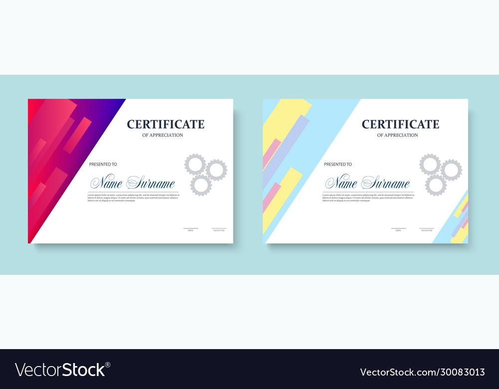 Certificate appreciation template design