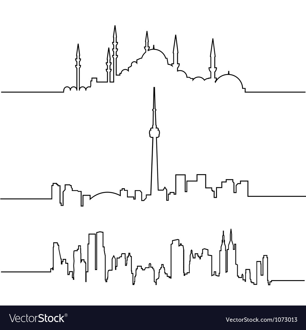 Cityscapes vector image