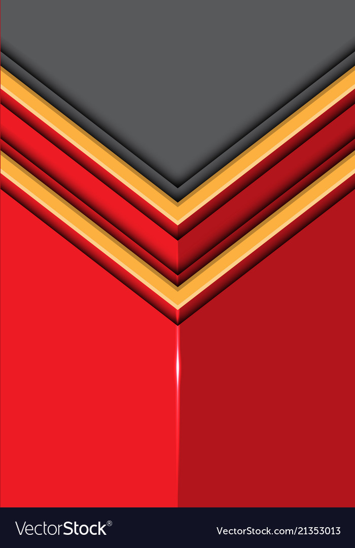 Double yellow line arrow on red glossy