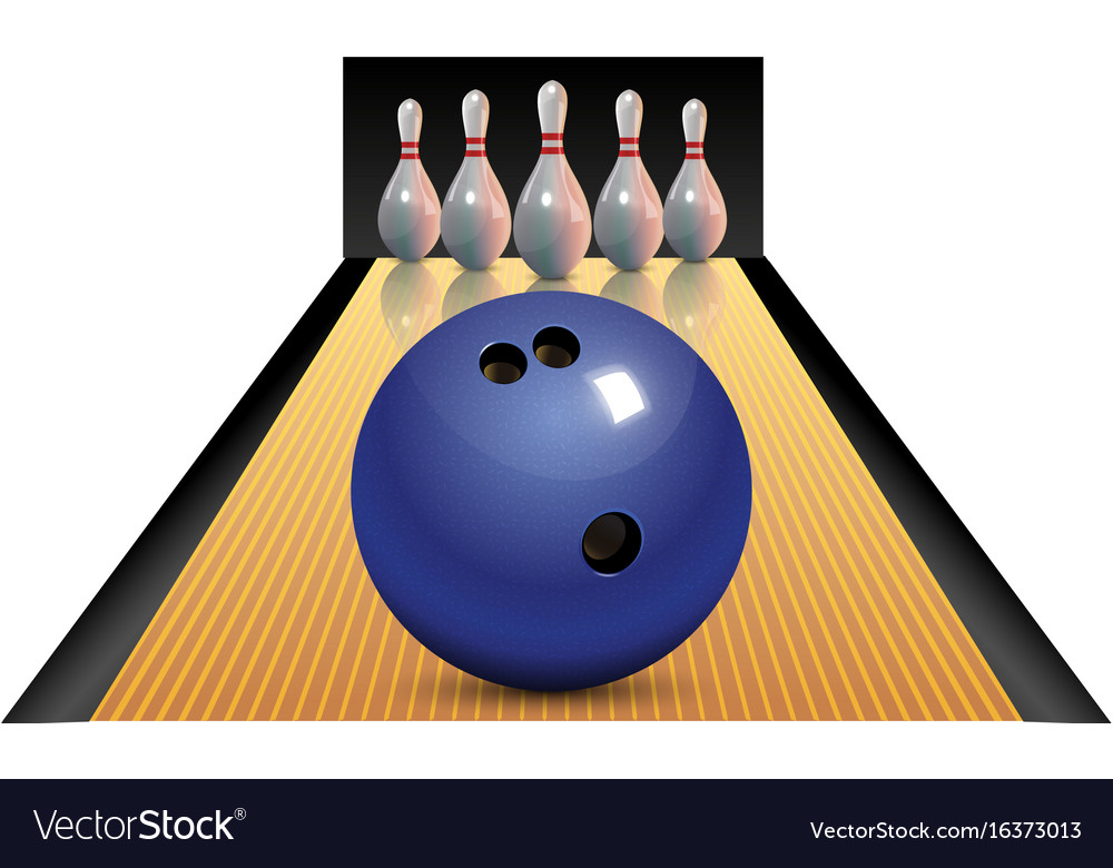 Realistic bowling icon set isolated on white