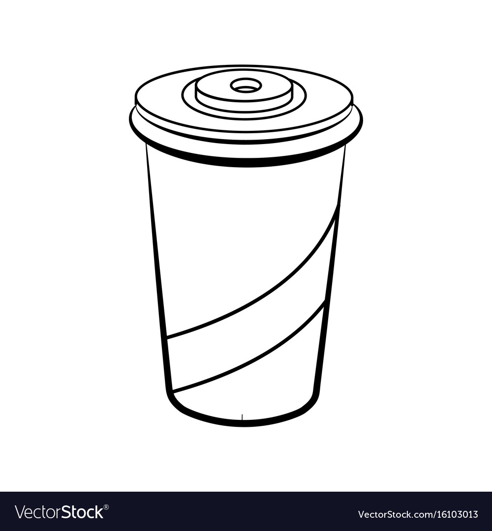 Sketch soda glass plastic