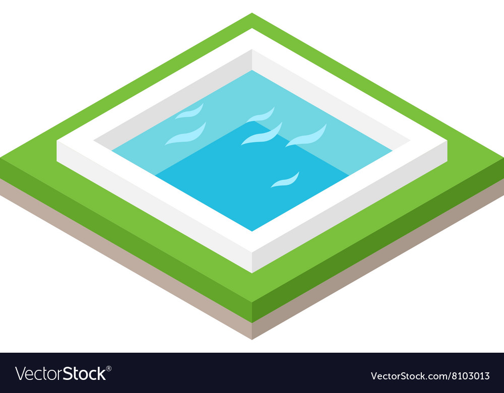 Water pool summer isometric fun concept 3d flat vector image