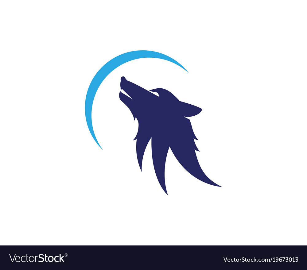 wolf logo template royalty free vector image vectorstock