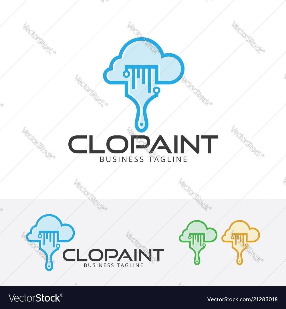 Cloud paint logo design