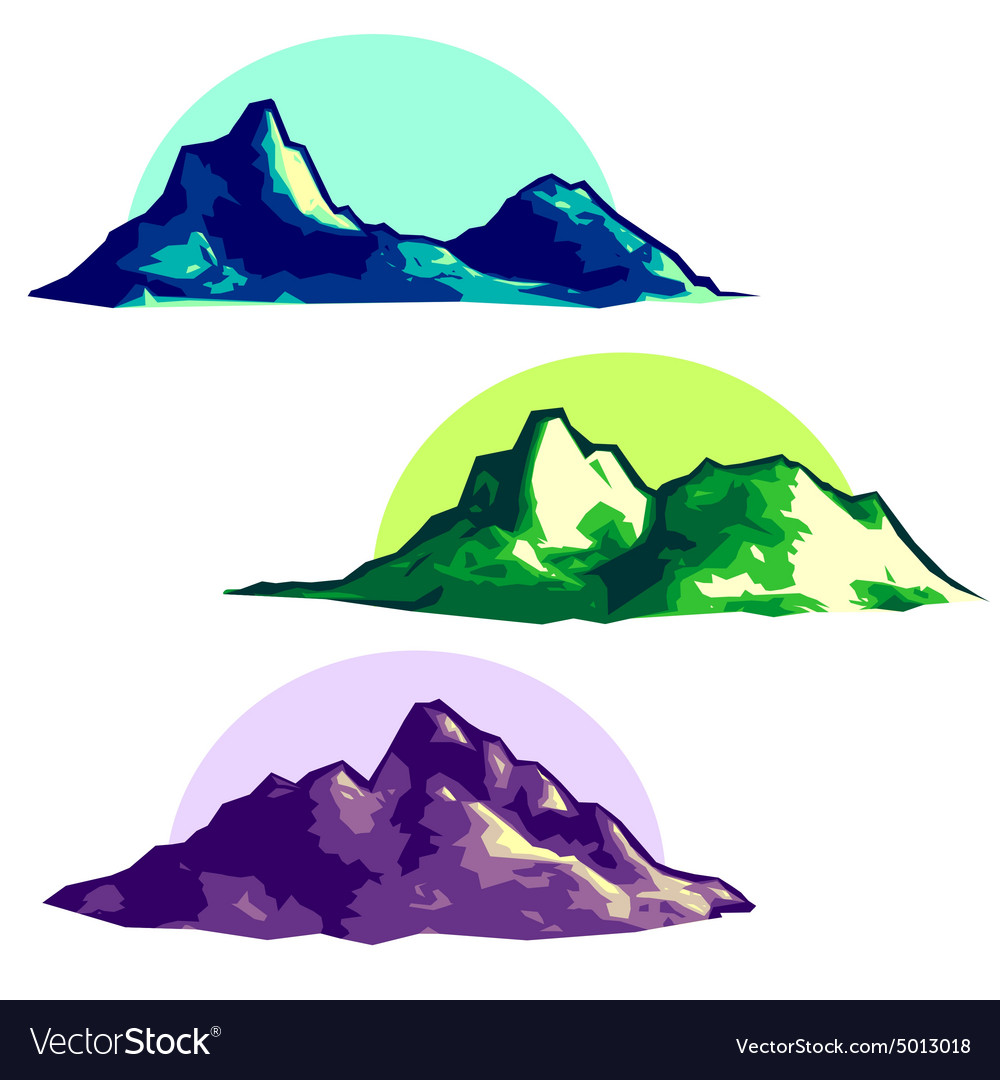 Low polygonal mountains vector image