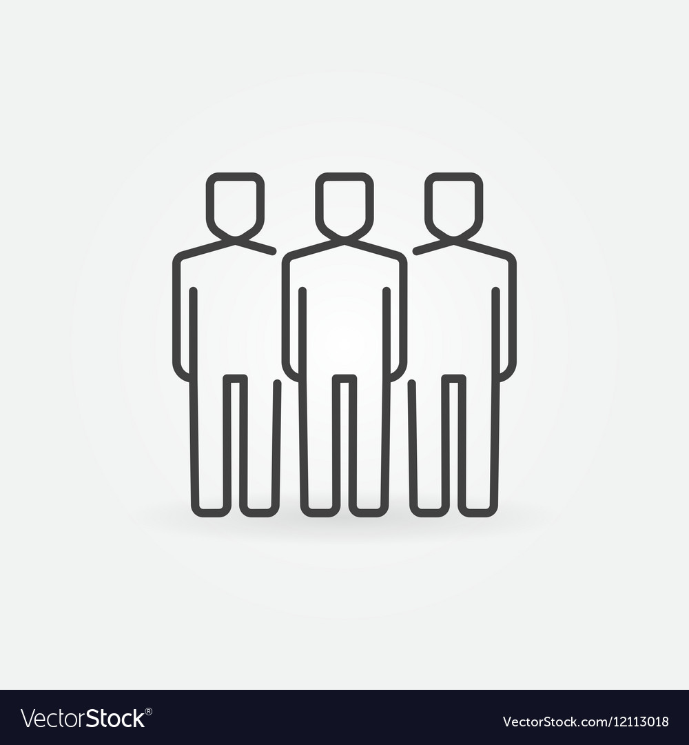 People line icon vector image