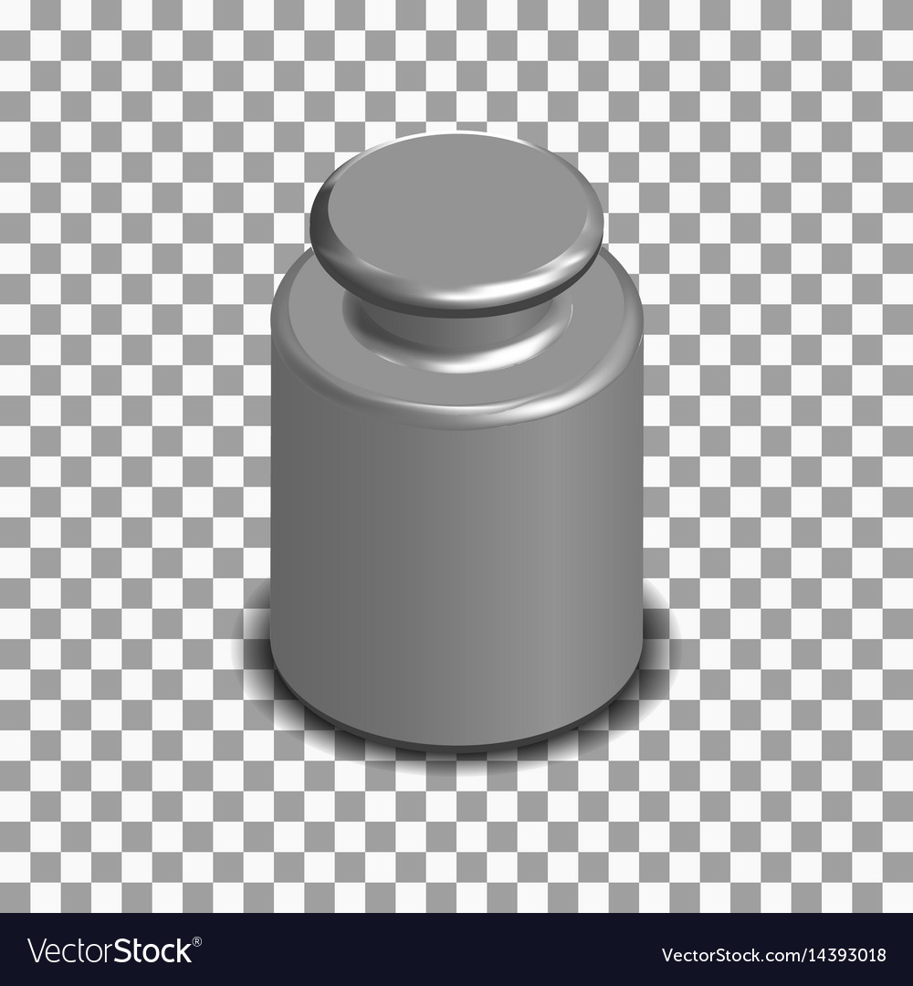 Photorealistic measuring weight for scales vector image