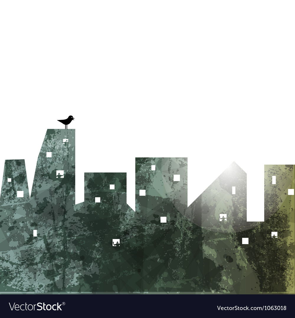 Rooftops vector image