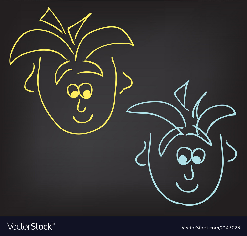 2 boys vector image