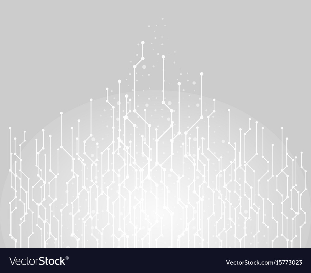 Abstract technology background graphic connecting vector image