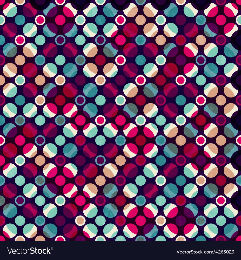 Bright mosaic circle seamless pattern