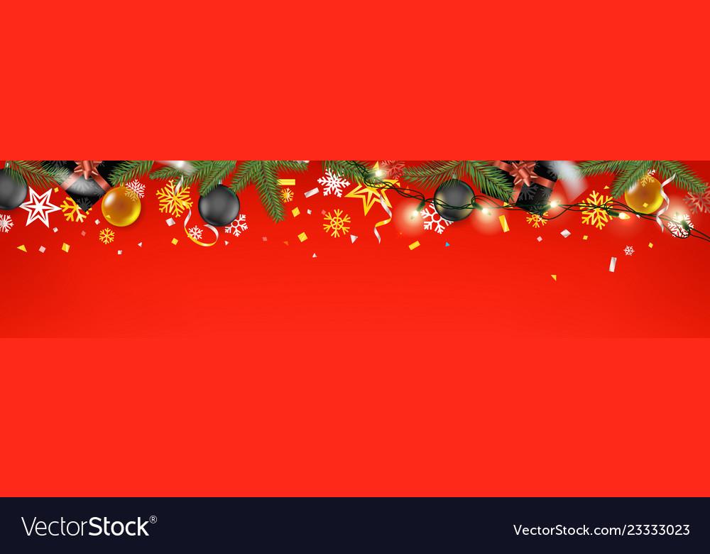 Christmas Header Image.Christmas Banner Concept Holiday Web Header