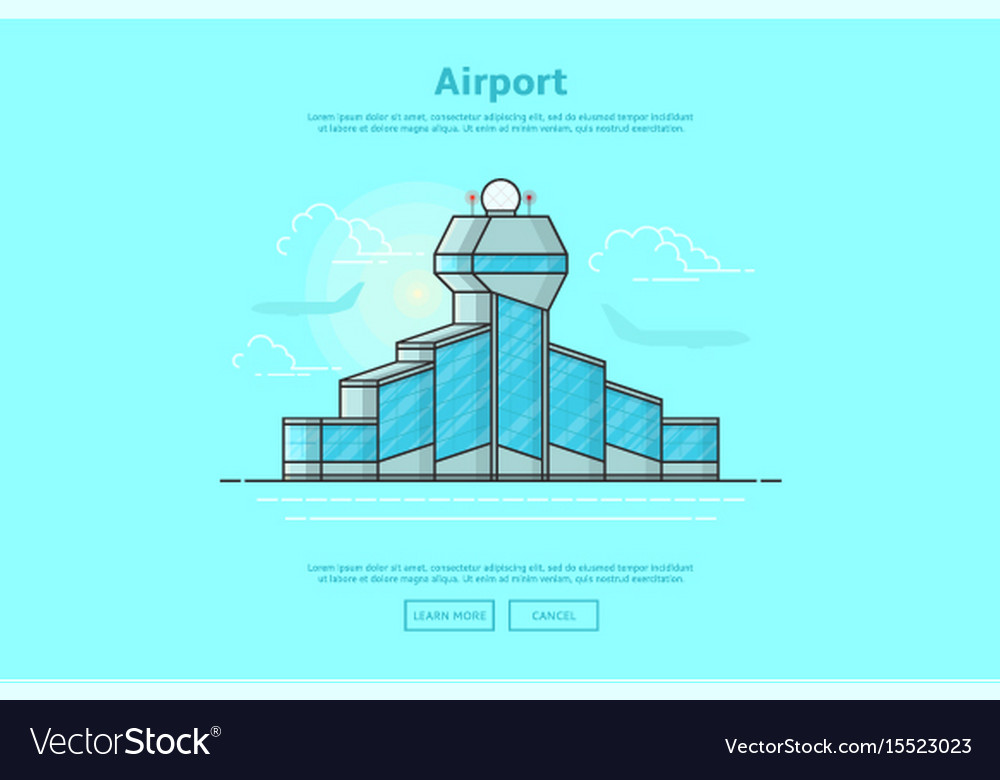 Concept of international airport