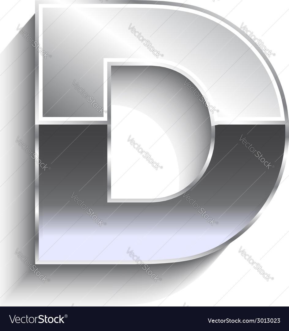 D metal font