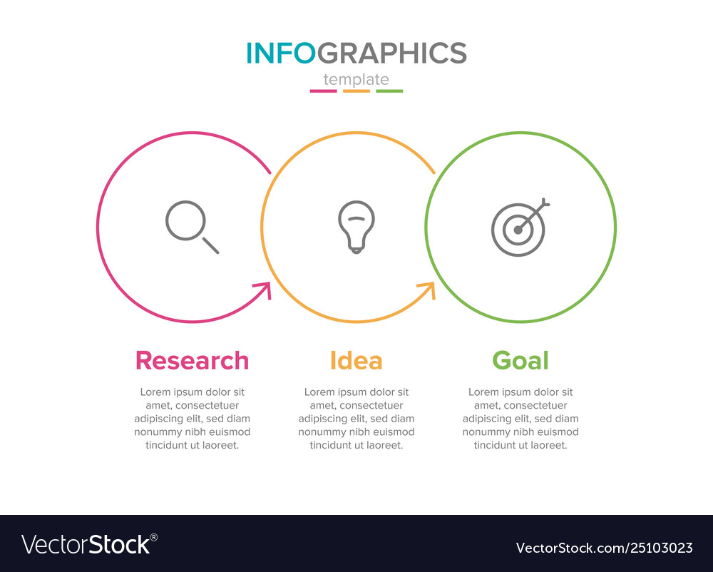 Infographic label template with icons 3
