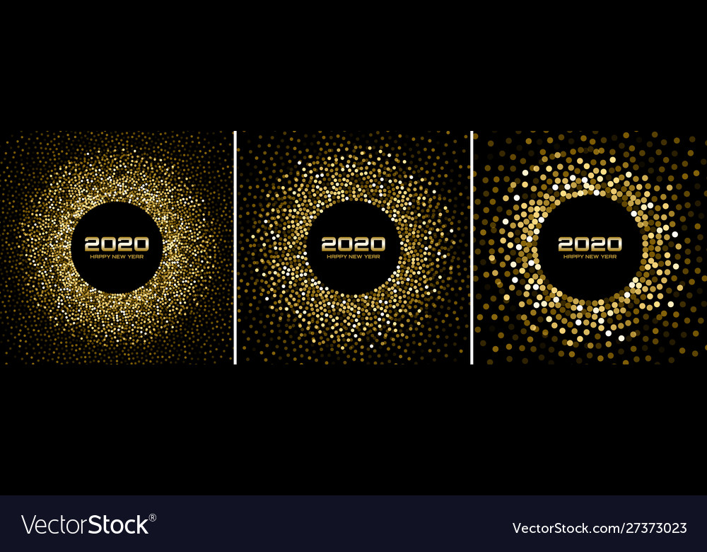 New year 2020 night party confetti background