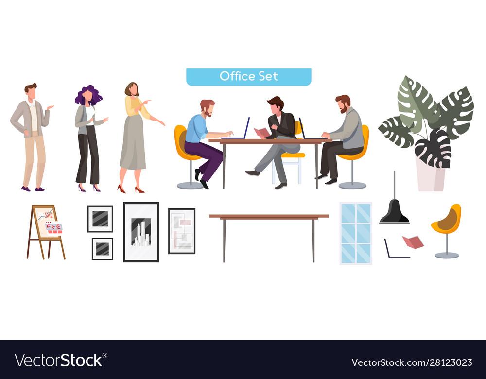 People in office flat
