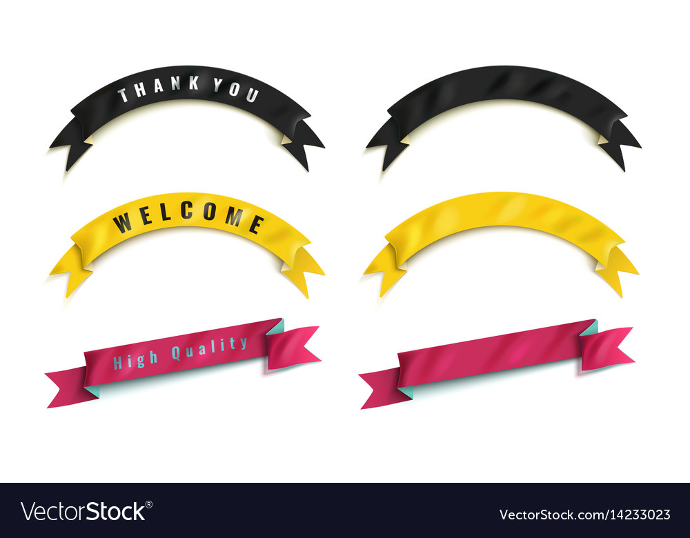 The set of colorful ribbons vector image