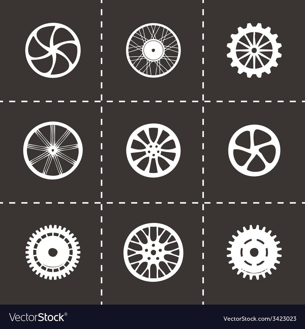 Wheel icon set