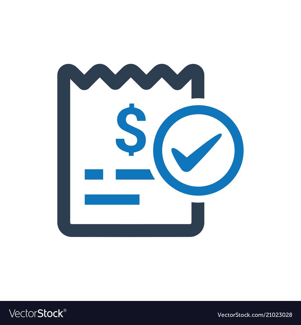 bill paid icon royalty free vector image vectorstock