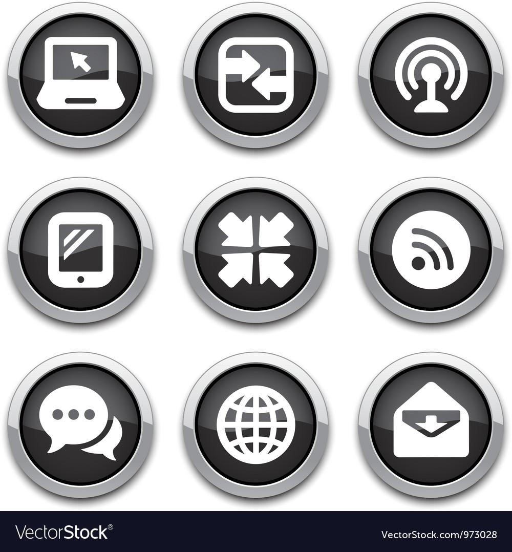 Black communication buttons