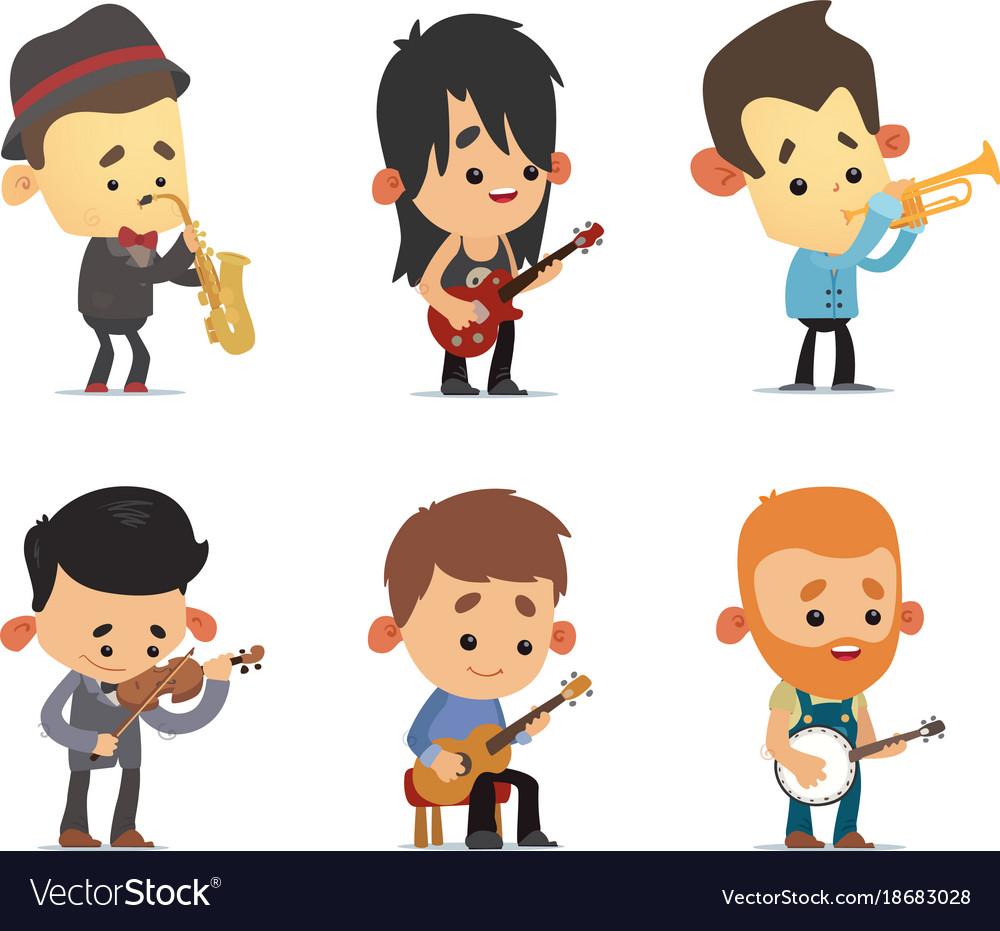 Cartoon musicians