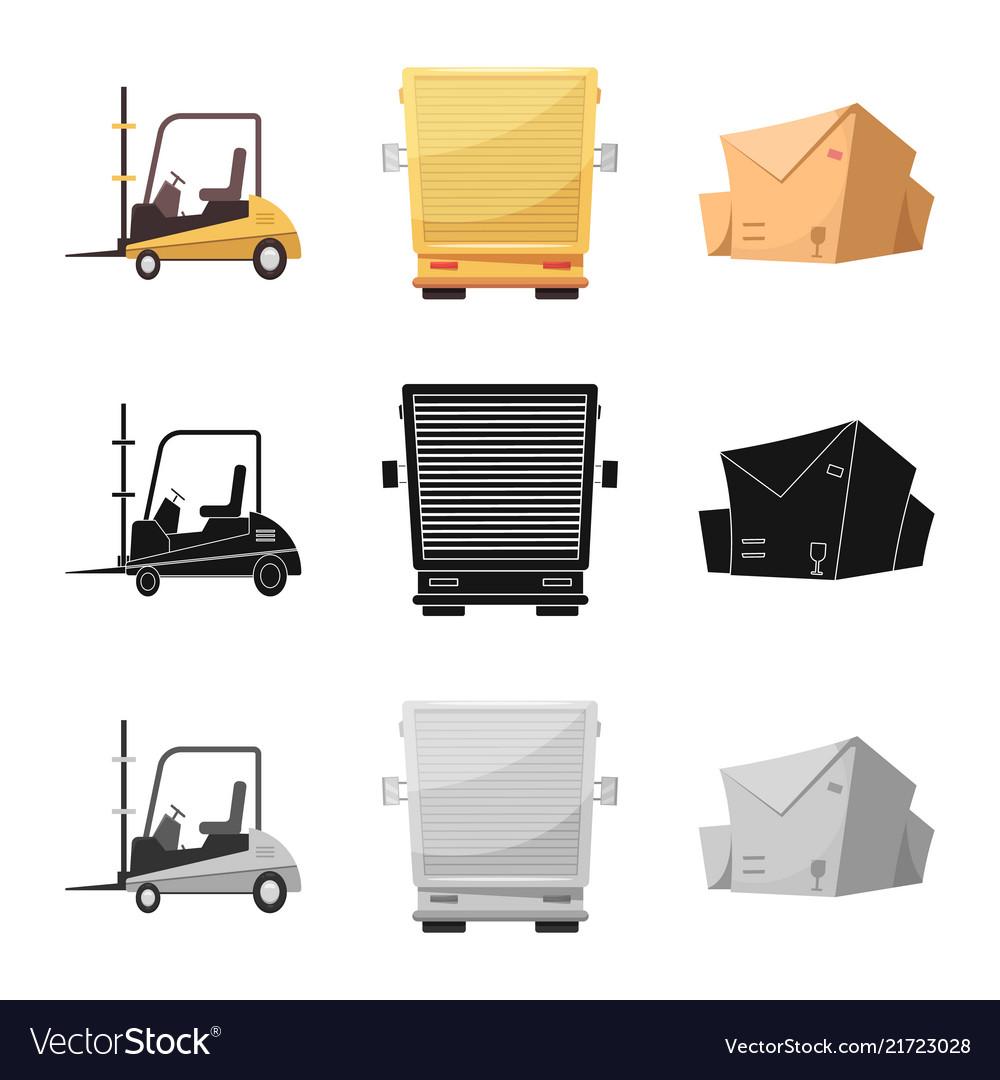 Goods and cargo icon set