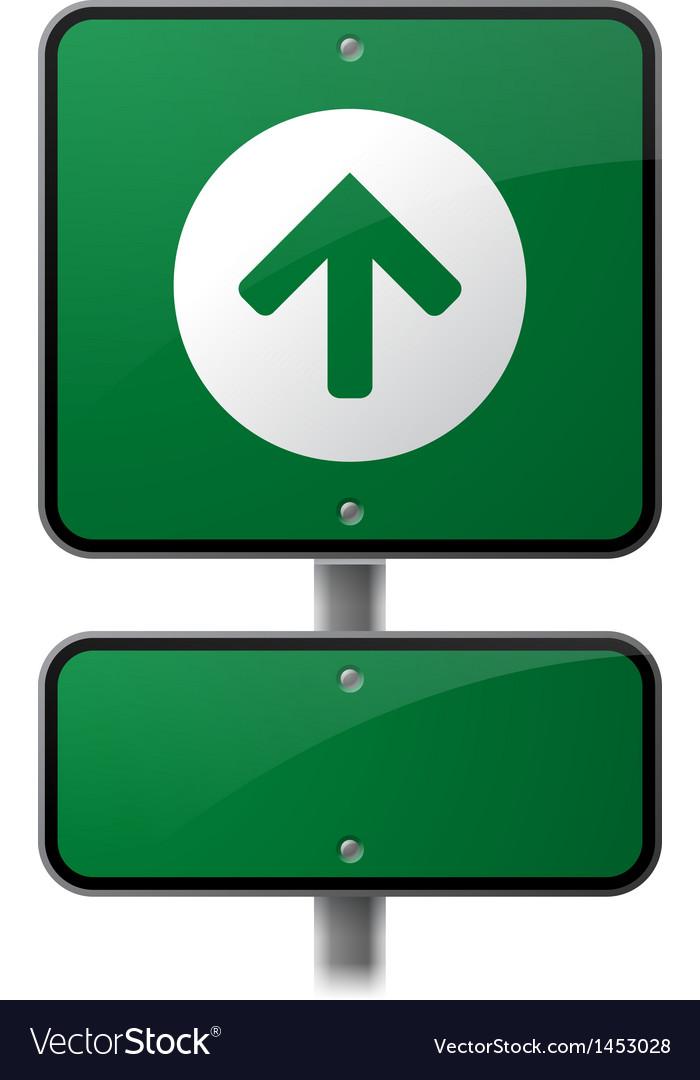 Growth Arrow Sign vector image