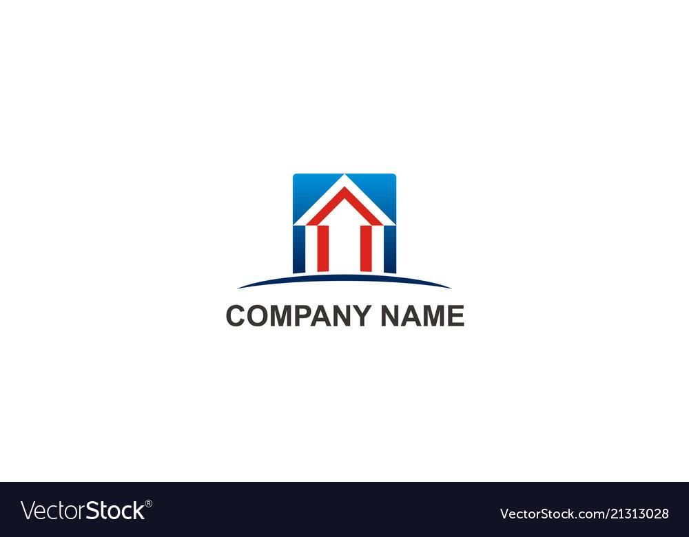 Home arrow sign abstract company logo