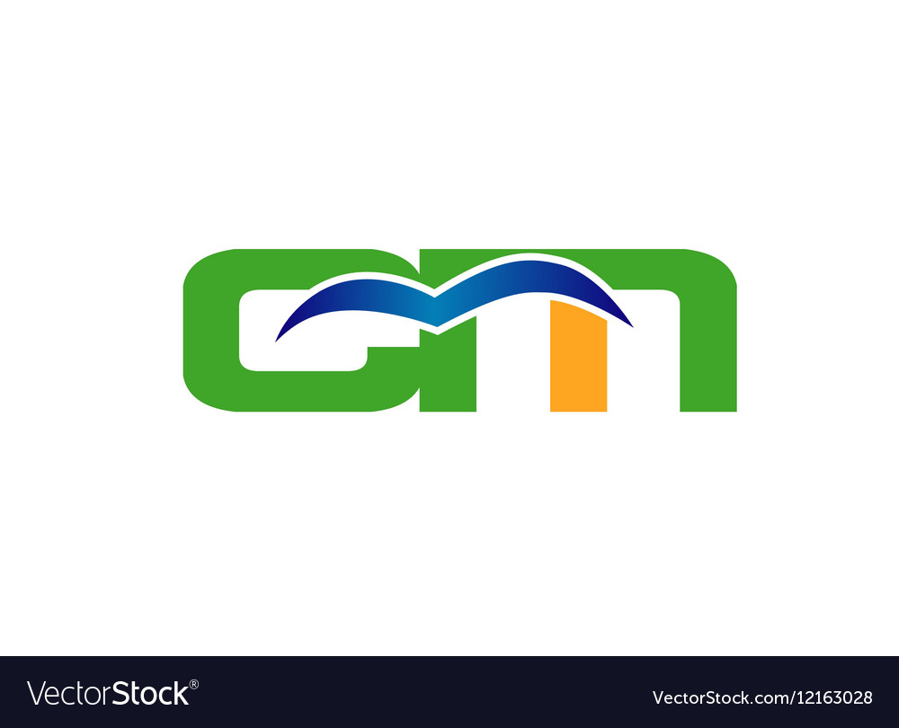 Letter C and M logo vector image