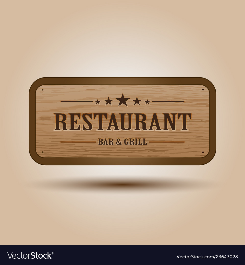 Realistic of wooden signboard