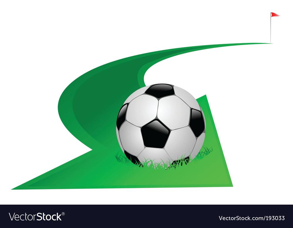 Arrow with soccer ball