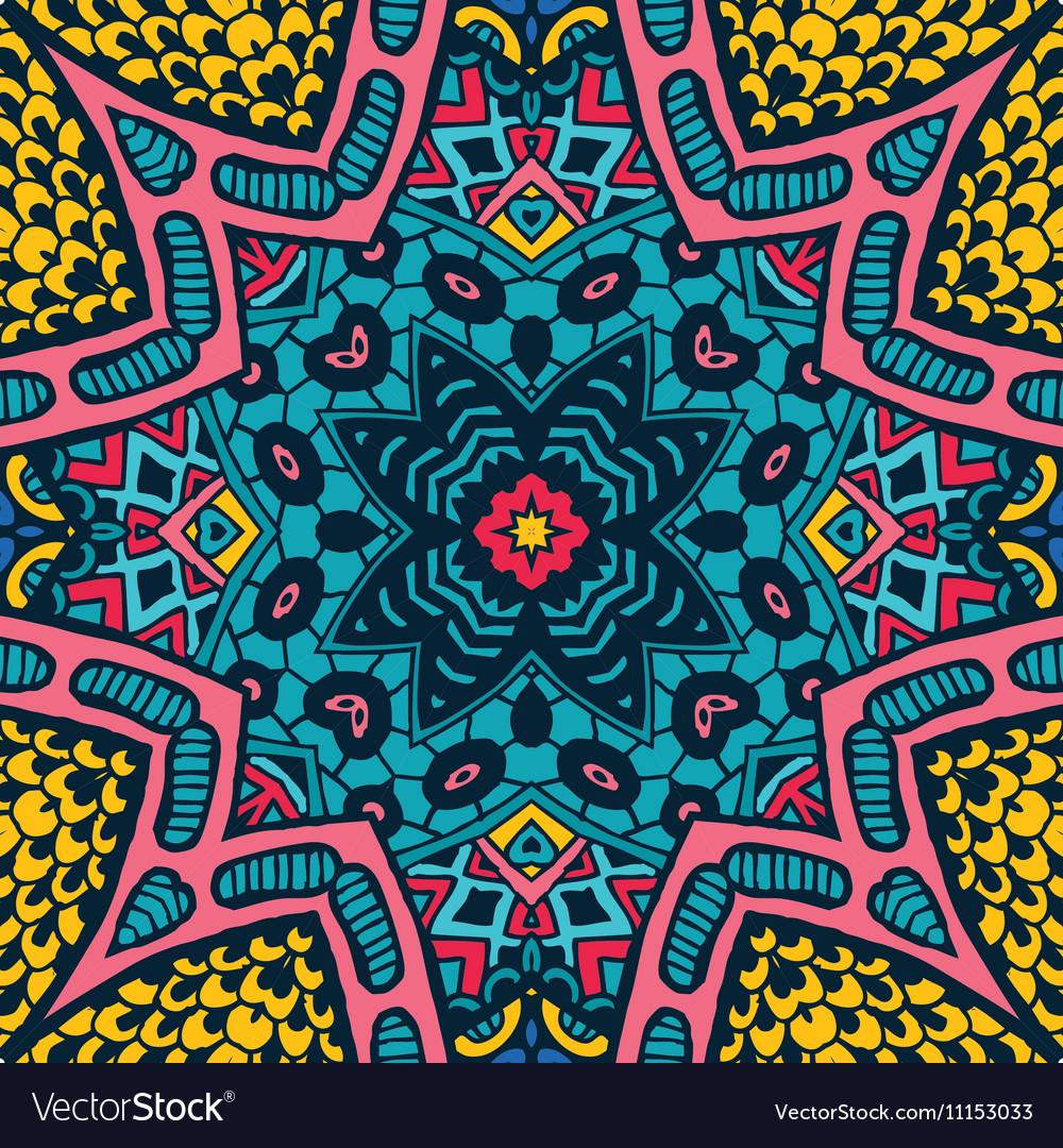 Festive colorful ethnic tribal design