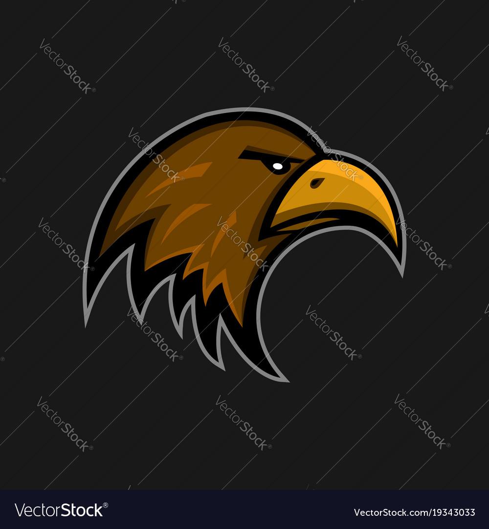 Mascot eagle logo sports club falcon head emblem