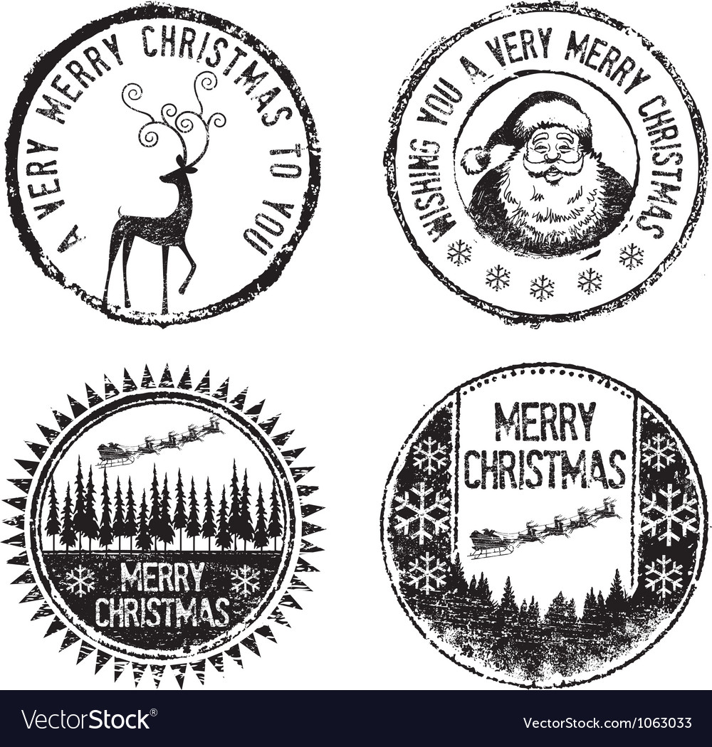 Merry xmas stamps