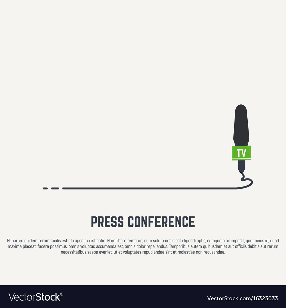 Microphone with cable vector image