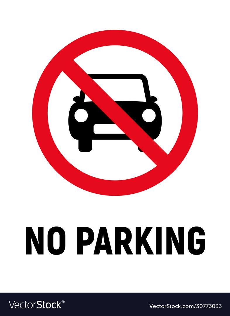 No car parking car forbidden icon vehicle