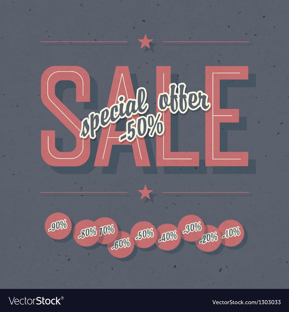 Sale card template vector image