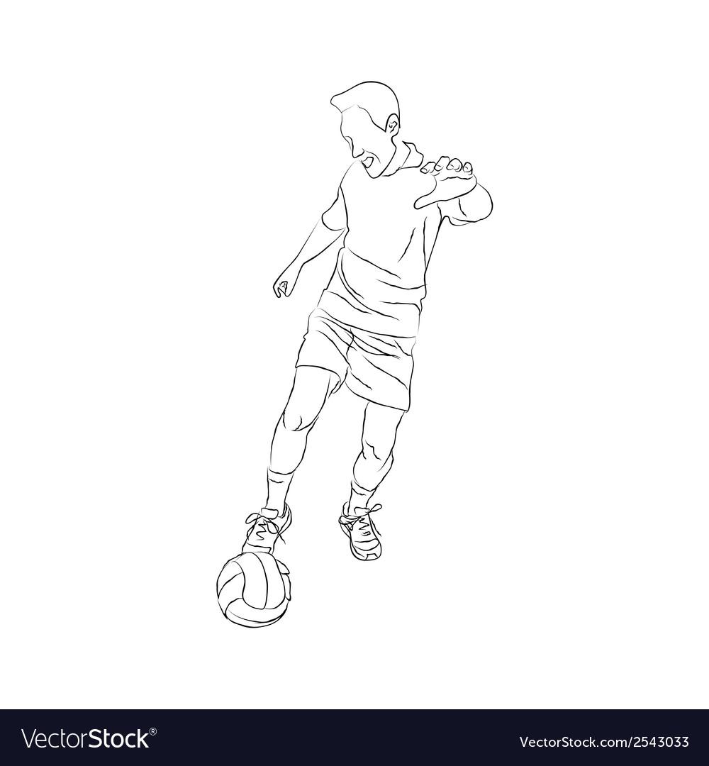 Soccer player sketch