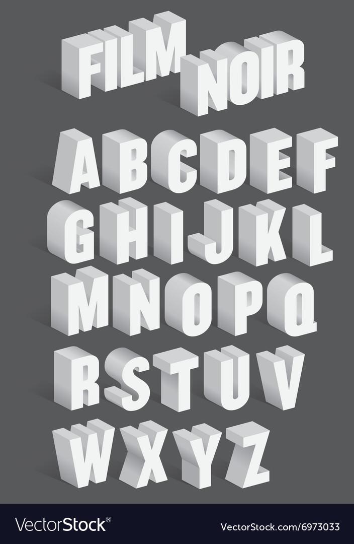 Three Dimensional Retro Alphabet