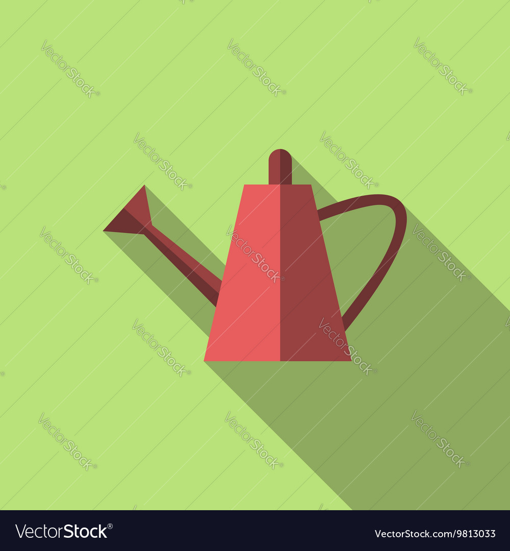 Watering can long shadow
