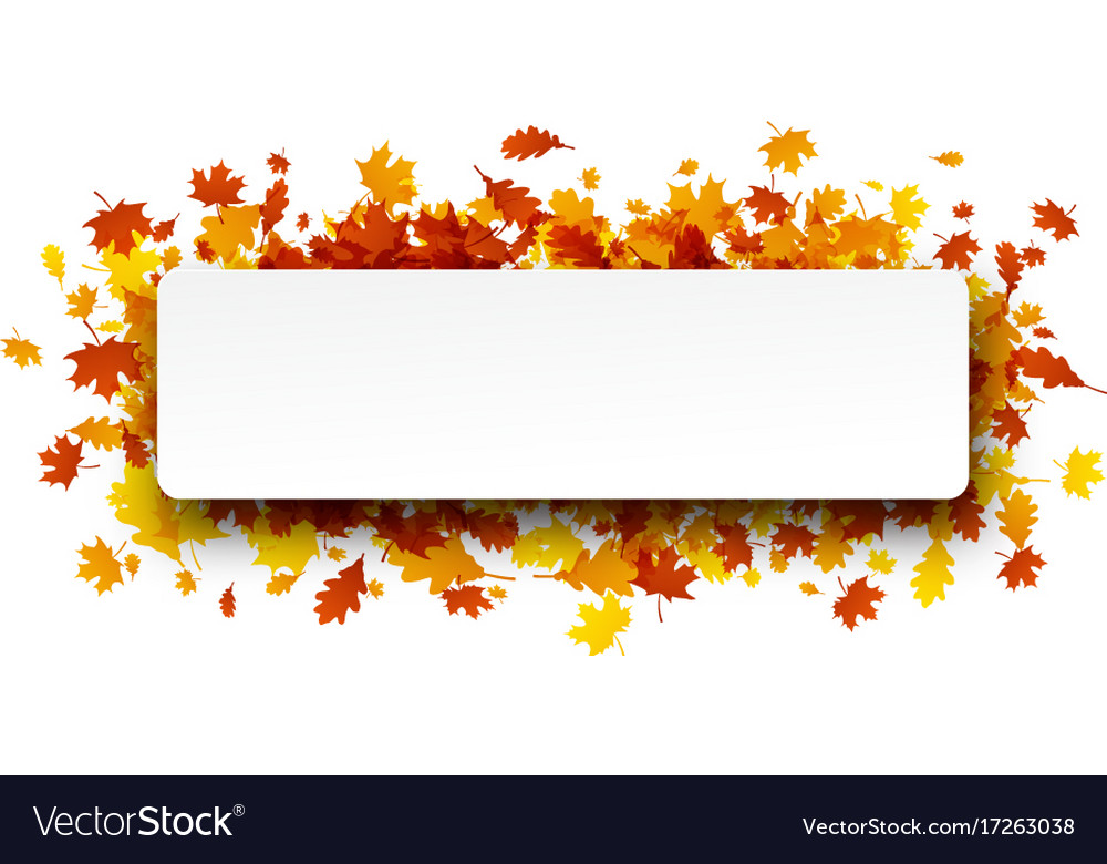 Autumn banner with orange leaves