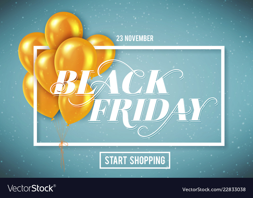 Banner for black friday sale with handdrawn
