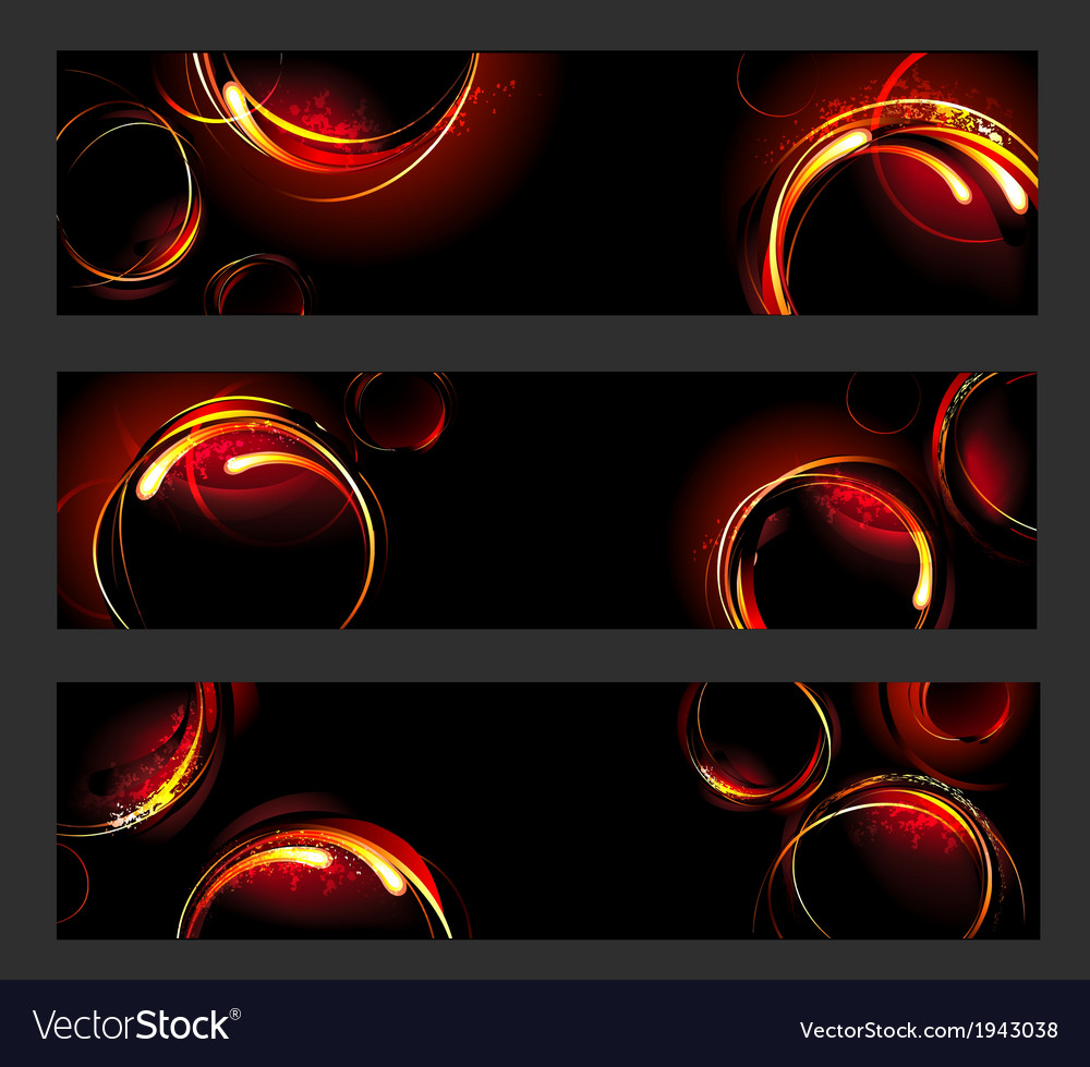 Banner with fire circles