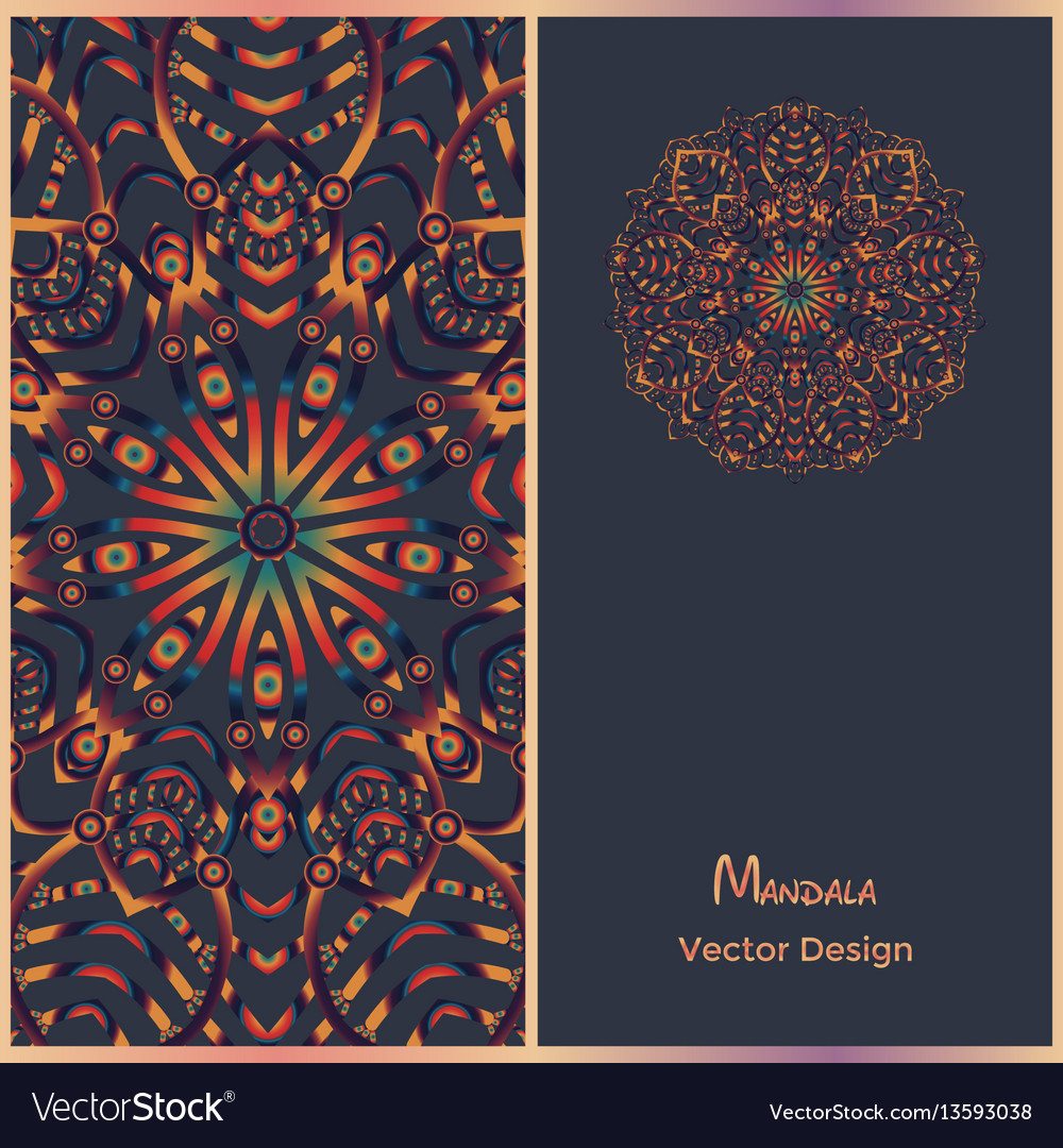 Brochure templates with ethnic pattern business