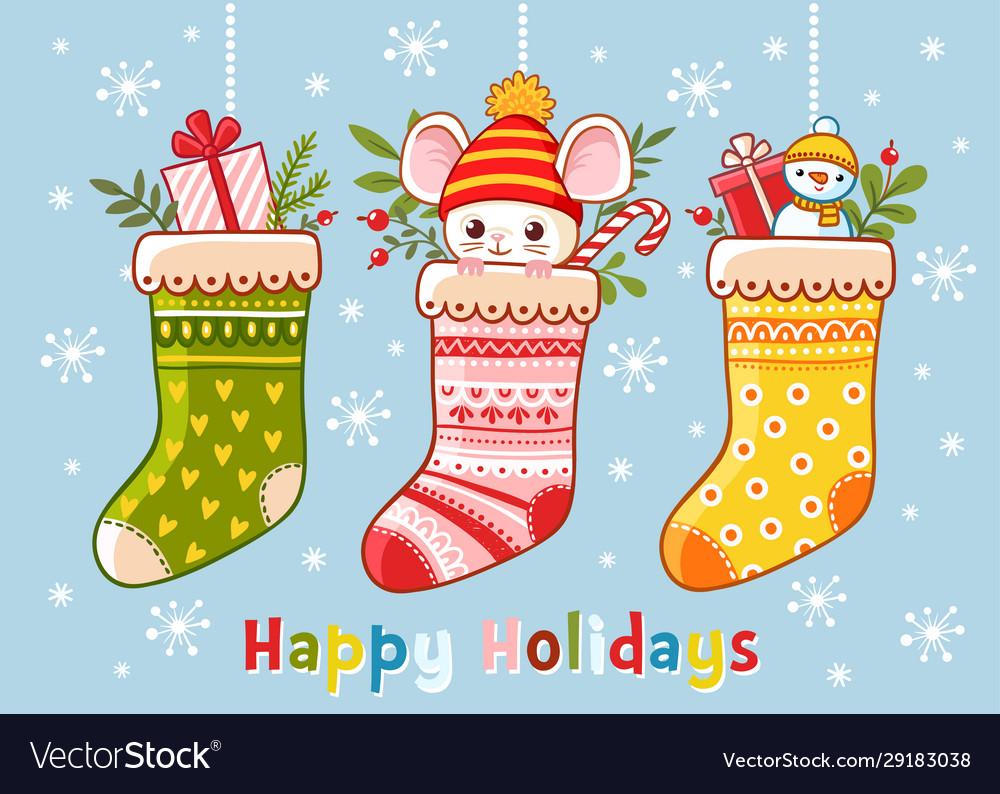 Christmas set with christmas socks