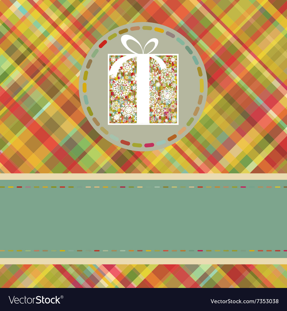 Christmas tartan background EPS 8