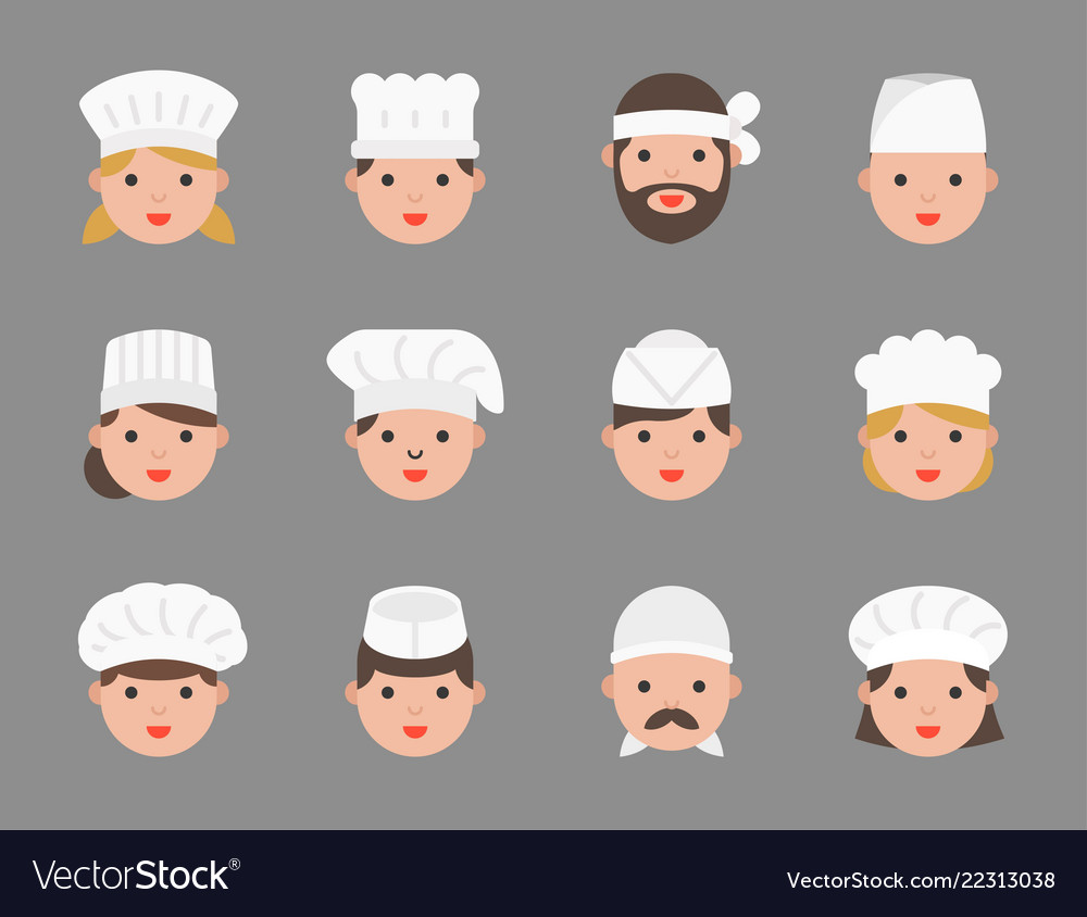 Cute chef avatar in variety such as pastry chef