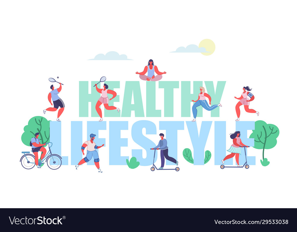 Healthy lifestyle concept flat style design