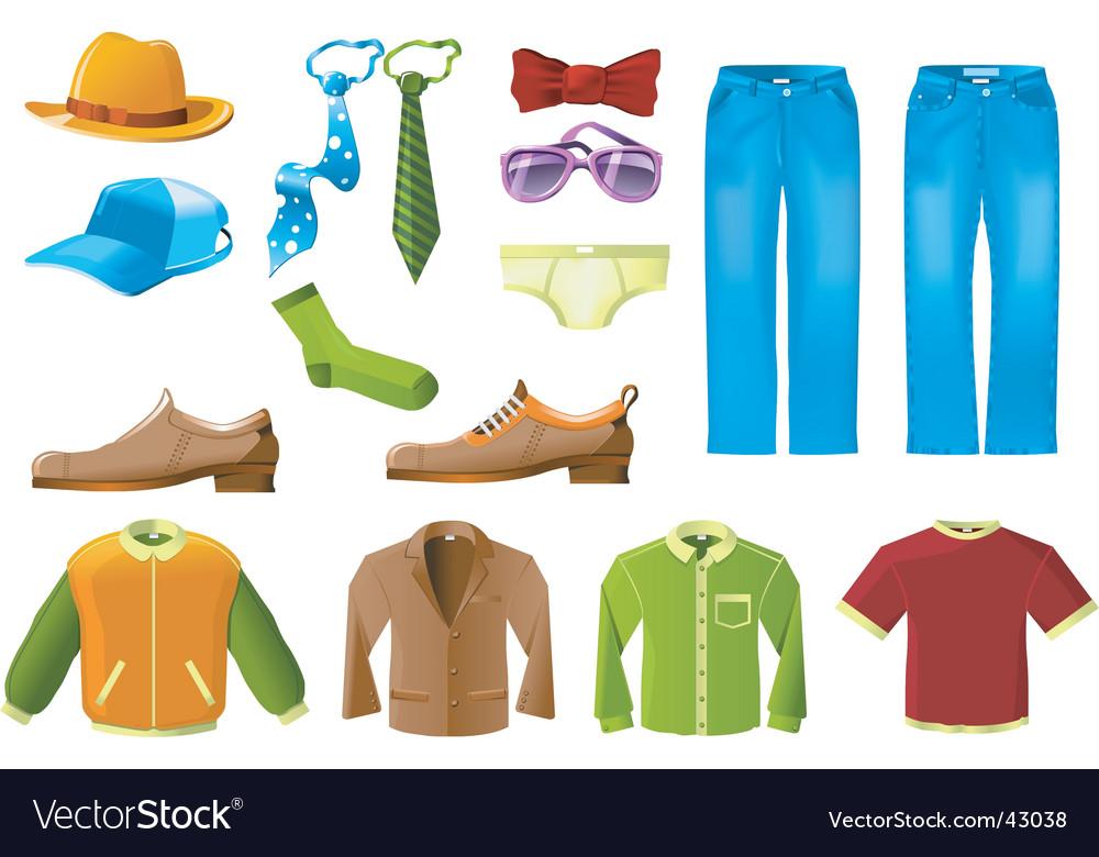 Men clothes icon set vector image